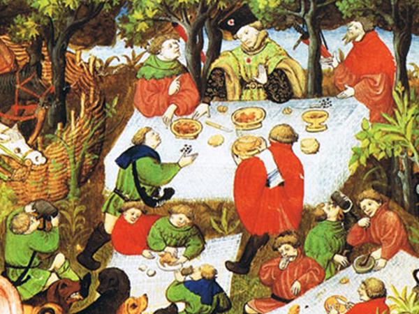 Repas médiéval et musical au Potager en carrés à la Française à Chinon